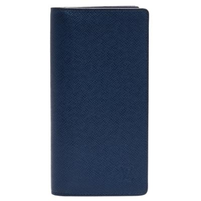 LV M30502經典BRAZZA系列Taiga皮革折疊長夾(藍色)