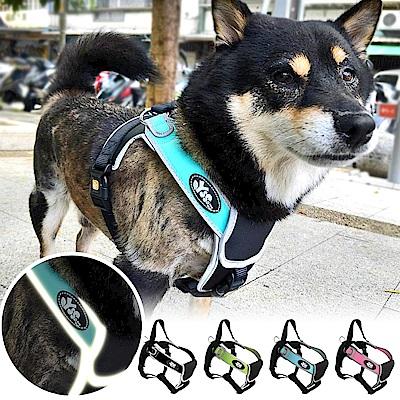 YSS 寵物PU綿防水耐用3D反光防暴衝M型胸背帶2XL(4色)