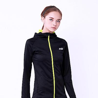 【KENBOO】女款慢跑針織外套-黑
