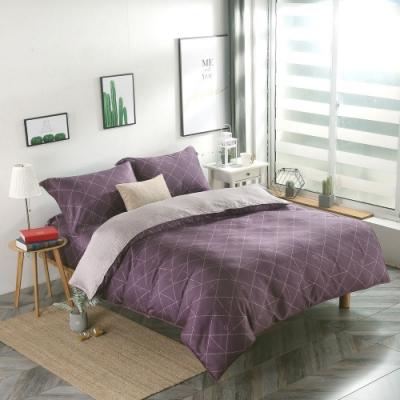 夢工場溫暖光希40支紗萊賽爾天絲四件式兩用被床包組-特大