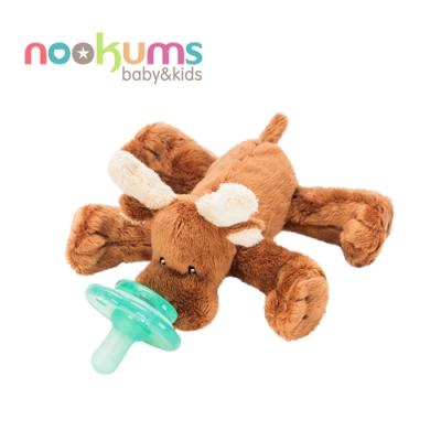 nookums 美國  寶寶可愛造型安撫奶嘴 / 玩偶-小麋鹿