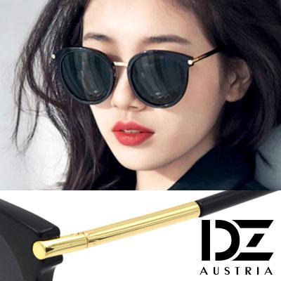 DZ 風尚圓柱 抗UV 防曬偏光 太陽眼鏡墨鏡(黑框灰片)