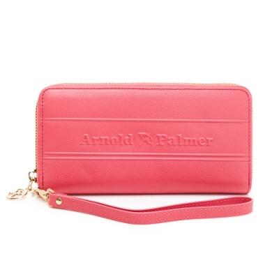 Arnold Palmer - ㄇ拉長夾-附手挽帶 LASS系列 - 粉色