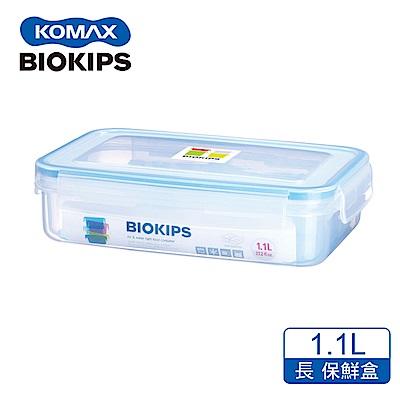 KOMAX 碧兒扣密封PP分格保鮮盒-長方形1.1L