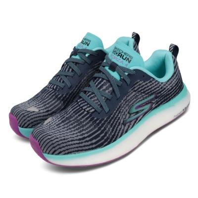 Skechers 慢跑鞋 Go Run Forza 4 運動 女鞋 輕量 避震 緩衝 路跑 橡膠大底 灰 藍 128095NVMT