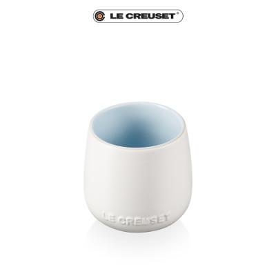 [結帳7折] LE CREUSET瓷器花蕾系列馬克杯250ml-棉花白/海岸藍
