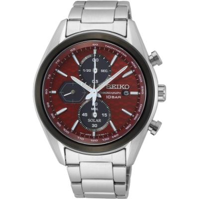 SEIKO 精工 喬治亞羅設計三眼計時太陽能腕錶 V176-0BH0R(SSC771P1)-40.5mm