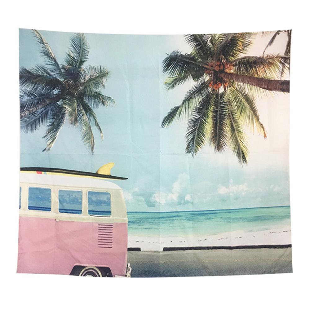 半島良品 北歐風裝飾掛布 沙灘箱車 125x145cm