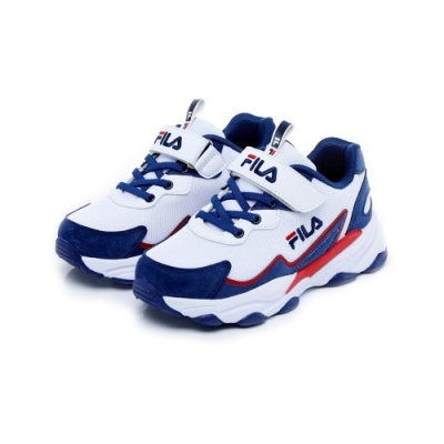 FILA KIDS 大童MD復古運動鞋-紅藍白 3-J805U-123