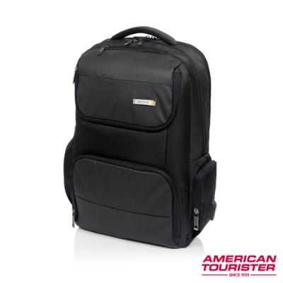 AT美國旅行者 Segno可鎖式可擴充筆電收納後背包17吋(黑)