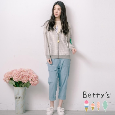 betty's貝蒂思 後印俏皮點點薄牛仔褲(淺藍)