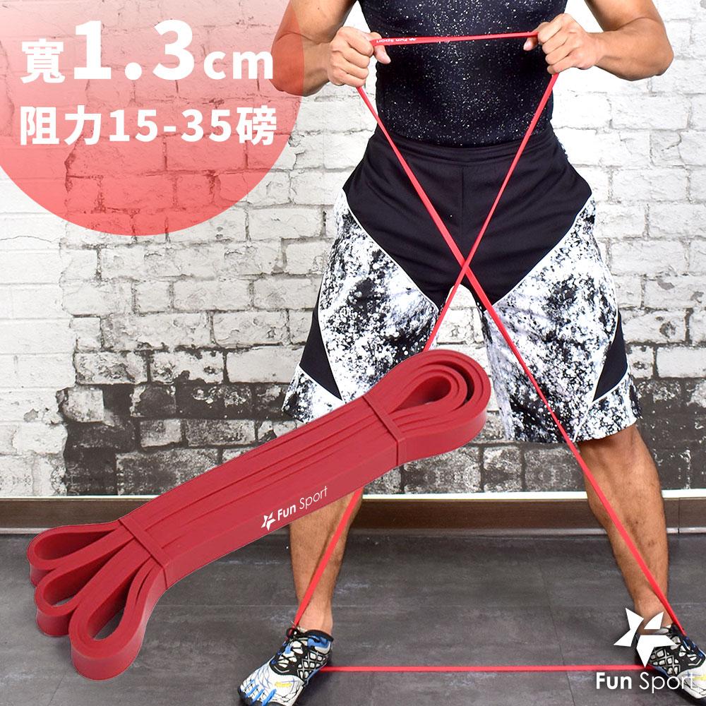 Fun Sport 健力環-乳膠環狀彈力阻力帶(紅)(阻力圈/彈力帶/拉力繩)
