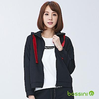 bossini女裝-連帽厚棉外套01黑