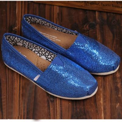韓國KW美鞋館 (現貨+預購) 絕美經典亮面休閒懶人鞋-藍