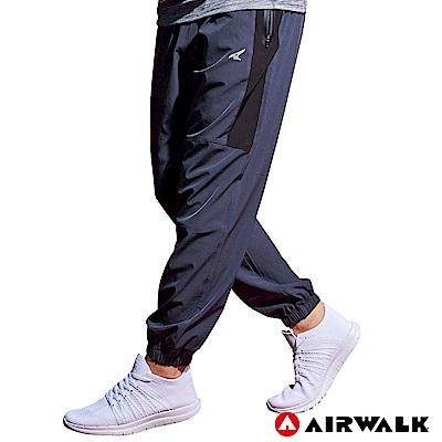 【AIRWALK】男款縮口風衣長褲-中灰色