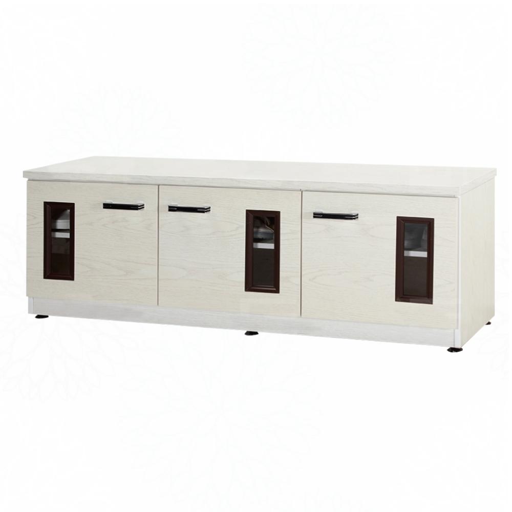 文創集 艾賓森4.1尺塑鋼三門座鞋櫃/收納櫃(13色)-122.5x37x45cm免組
