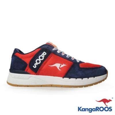 KangaROOS 美國袋鼠鞋 男 COMBAT 經典口袋鞋(紅藍)