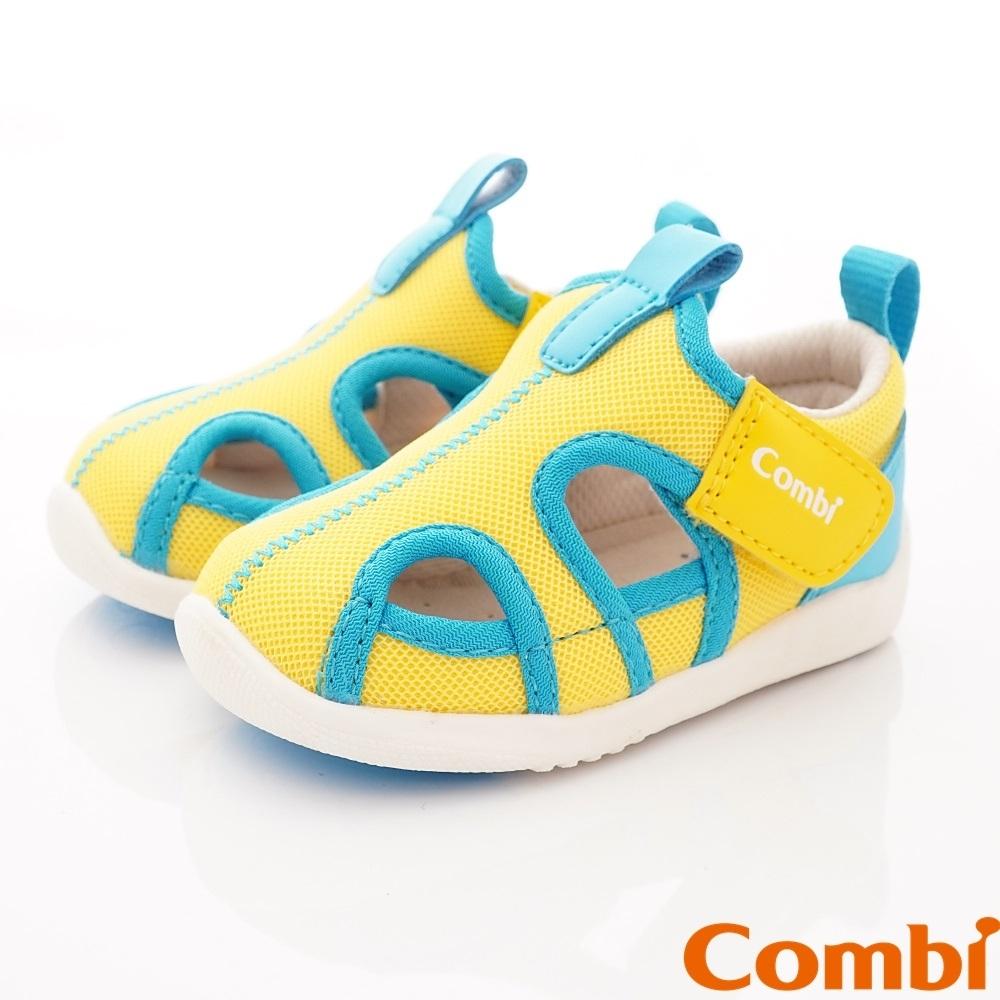 日本Combi童鞋 城市飛行幼兒機能涼鞋-酷動黃