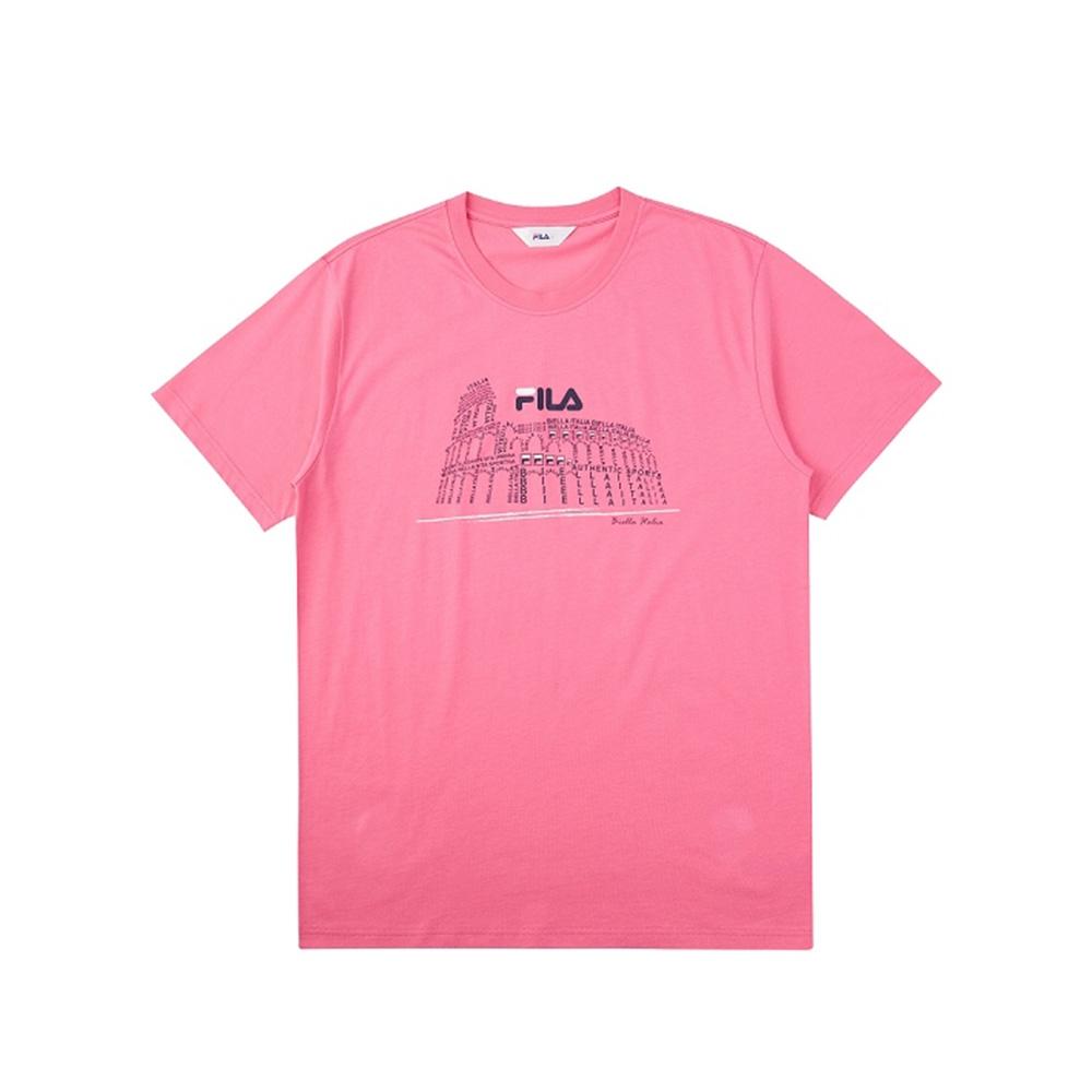 FILA 短袖圓領T恤-粉桃 1TEV-1515-PC