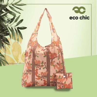【英國ECO】時尚摺疊購物袋-松鼠(100%再生環保纖維布料)(快)