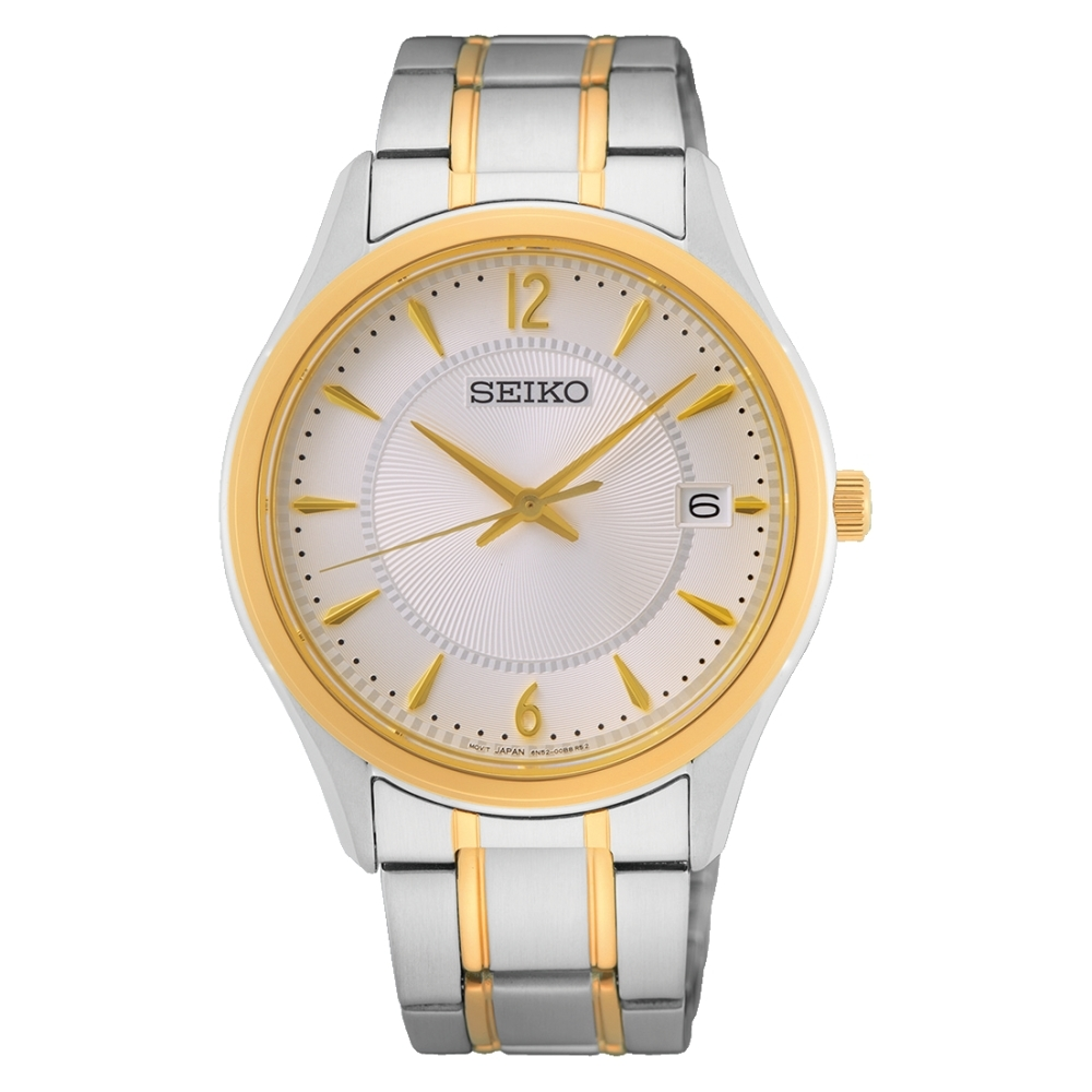 SEIKO 簡約經典藍寶石鏡面腕錶6N52-00D0KS(SUR468P1)