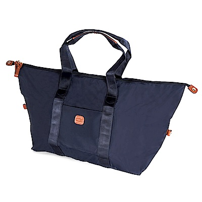 BRICS 義大利時尚 可摺疊收納旅行袋 深藍 防潑水