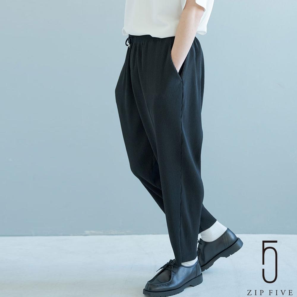 ZIP日本男裝 Nilway鬆緊百褶寬褲 (5色)