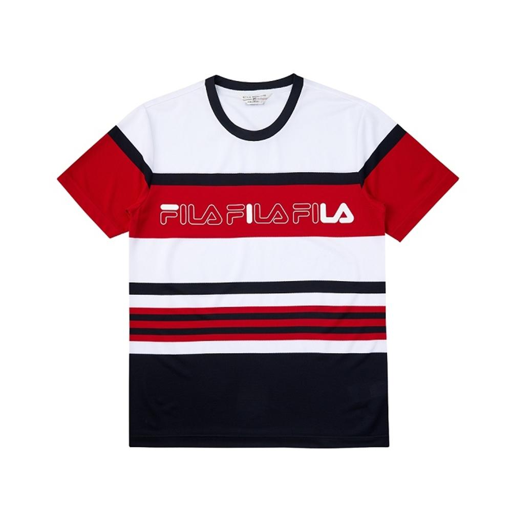 FILA 吸濕排汗短袖圓領T恤-紅色 1TEV-1469-RD