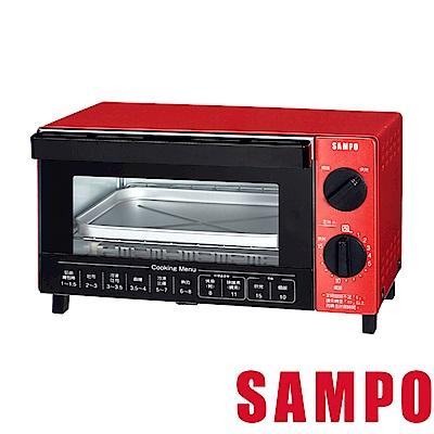 (福利品)SAMPO聲寶10L多功能魔法烘焙烤箱 KZ-SA10