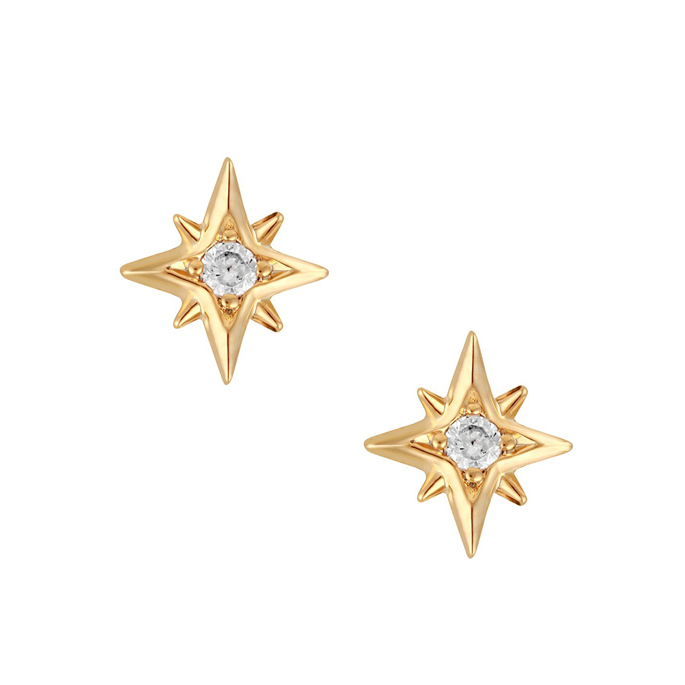 five and two 美國品牌 Sydnee星星鑲嵌鋯石 金色耳環