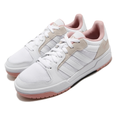 adidas 休閒鞋 Entrap 復古 低筒 女鞋 愛迪達 熊貓 基本款 板鞋 皮革 穿搭 白 粉 FX4026