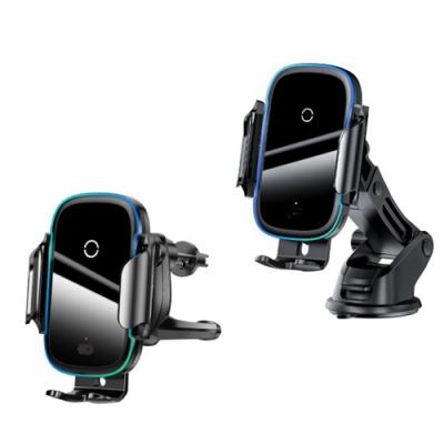 【Baseus倍思】City Lights 光線電動無線充 車載支架 手機架