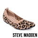 STEVE MADDEN-ELAINE 氣質款 彈性針織拼接平底鞋-豹紋咖 product thumbnail 1