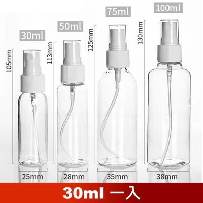 荷生活 PET材質透明小噴瓶 防疫酒精消毒水分裝瓶-30ml一瓶
