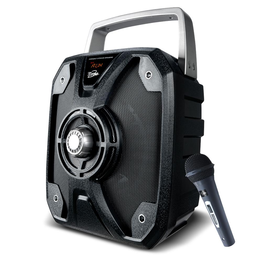 TCSTAR戶外移動式多功能藍牙喇叭附麥克風-黑 TCS1500