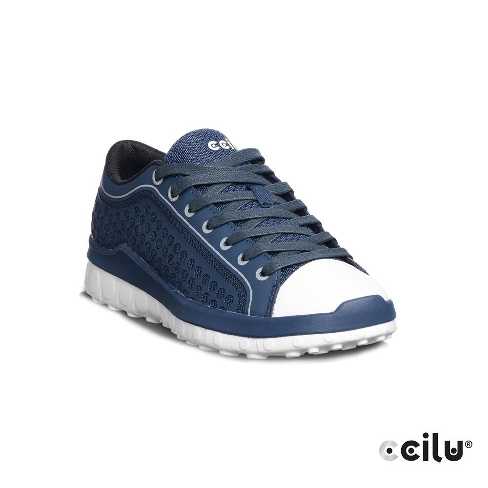 CCILU  圓點網布運動休閒鞋-女款-302305096藍色