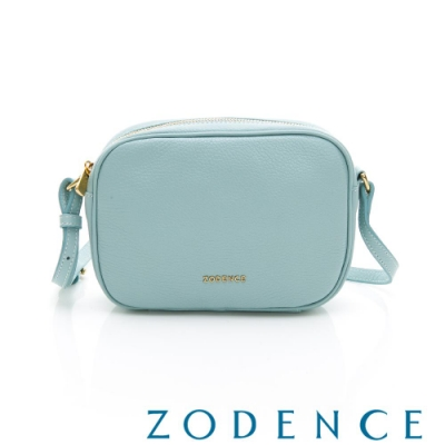 ZODENCE RELAX系列進口彩色牛皮橫式皮夾包 水藍