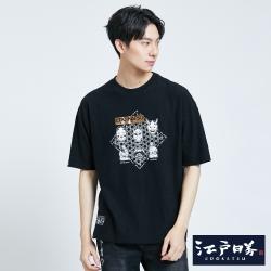 EDO KATSU江戶勝 黑潮紋能劇 短袖T恤-男-黑色