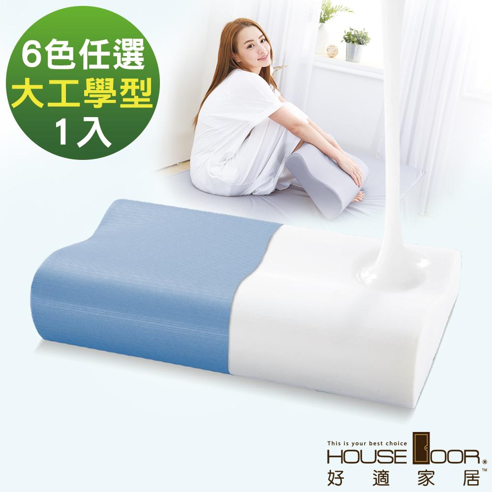 House Door 歐美熱銷款 大和防蹣抗菌表布 工學型釋壓記憶枕-大尺寸1入