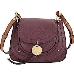 SEE BY CHLOE Susie 小型 馬蹄型牛皮斜背包(紫紅)