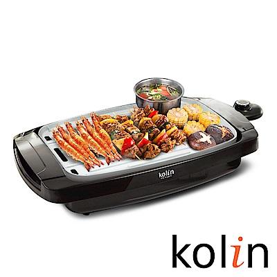 快-歌林Kolin電熱式雙面陶瓷不沾電烤盤/煎盤/燒烤盤(KHL-A1201T)