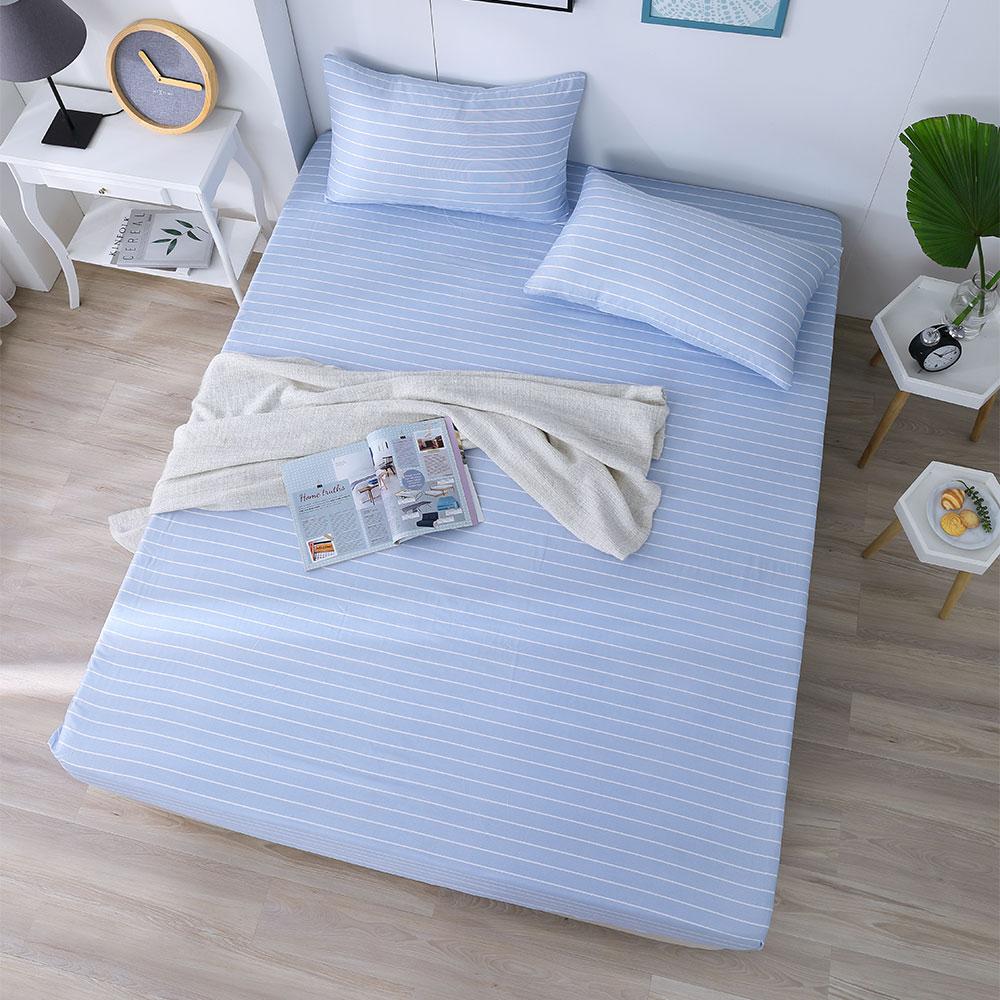 DESMOND岱思夢 雙人 天絲床包枕套三件組(3M專利吸濕排汗技術) 波西米亞-藍