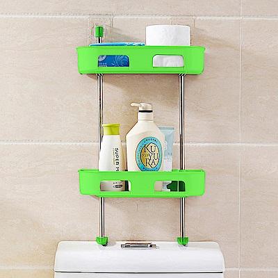 多功能浴室置物架//綠色雙層
