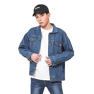 男人幫SL010*韓風潮流素面復古牛仔外套
