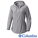 Columbia 哥倫比亞 女款-防曬30長版連帽外套-灰色UAR21260GY