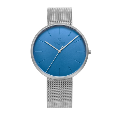 OBAKU 至臻奢華經典腕錶-銀-V219GXCLMC-39