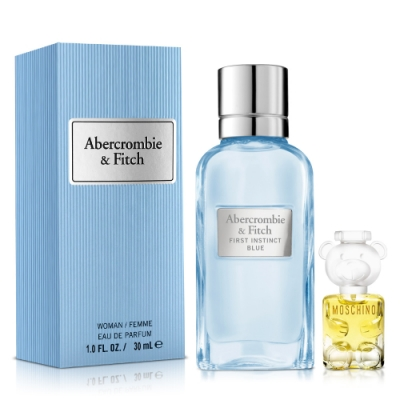 Abercrombie & Fitch 湛藍女性淡香精30ml+Moschino女小香