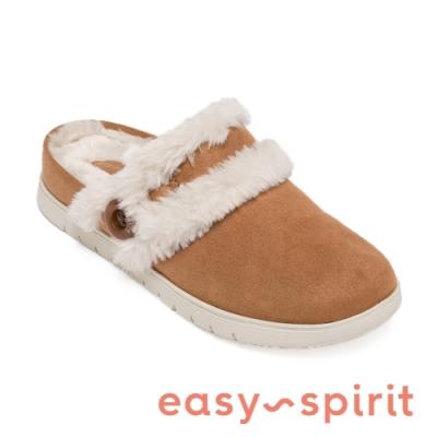 Easy Spirit-seSEASON2-A 秋冬舒適絨毛前包女拖鞋-咖啡色