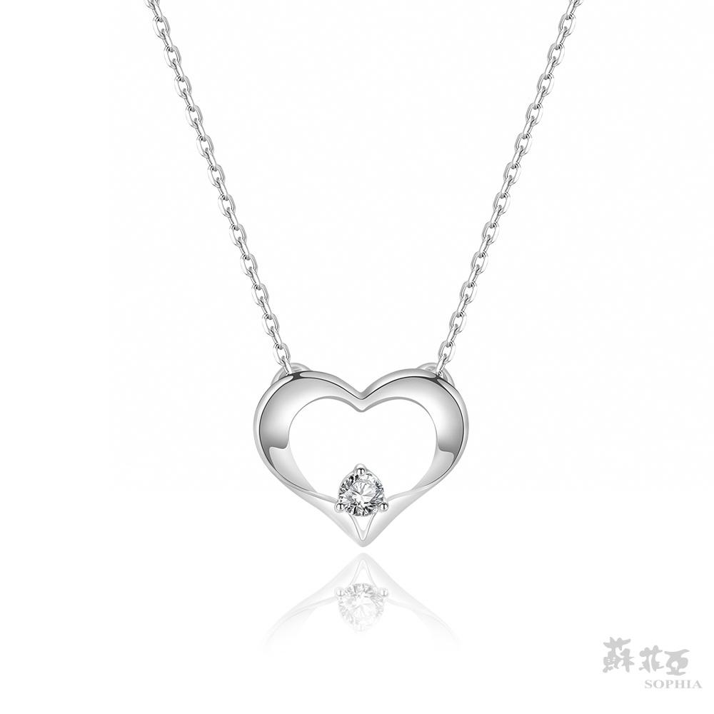 SOPHIA 蘇菲亞珠寶 - 愛戀芳心 18K白金 鑽石項鍊