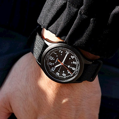 TIMEX xTODD SNYDER聯名限量MILITARY復古軍用腕錶組-黑/40mm